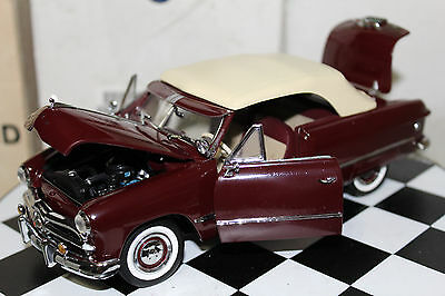 Franklin Mint 1:24 Scale 1949 FORD CUSTOM CONVERTIBLE (MAROON)