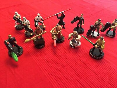 12 Lot, Star Wars AttackTix Action Figures with Luke Skywalker and Princess Leia