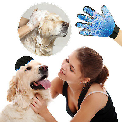Massage True Glove Touch Deshedding Gentle Efficient Pet Grooming Dogs Cats Tool