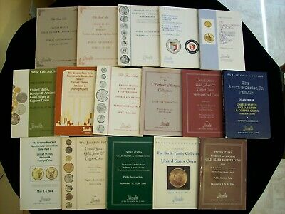 Lot of 16 Numismatic Auction Catalogs 1981-1984 From Stack's Inc. Amon Carter