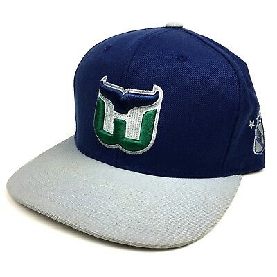 Hartford Whalers Snapback Hat Cap by Mitchell   Ness NHL Vintage Collection 983c84130