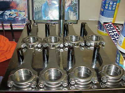 "Set of 8 Carrillo 6.00"" H Beam Rods with Bolts & Wristpins & Force Feed Oiling"