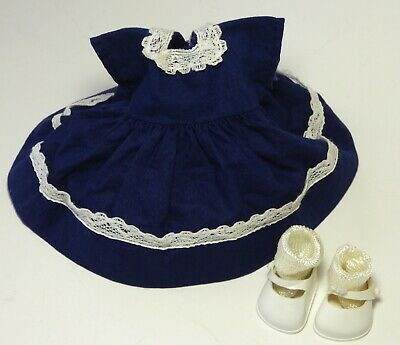 "1950s Doll Clothes Untagged Dress & Ginny Marked Shoes / Socks 8"" Vintage"