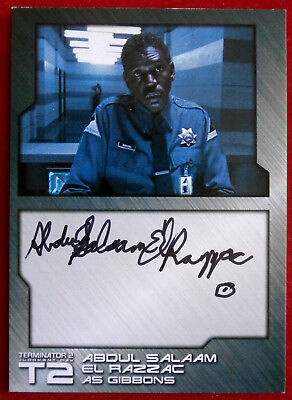 TERMINATOR 2 - JUDGMENT DAY - T2 - ABDUL SALAAM EL RAZZAC - Autograph Card