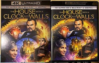 THE HOUSE WITH A CLOCK IN ITS WALLS 4K Ultra HD + Blu-ray + Digital - Like New