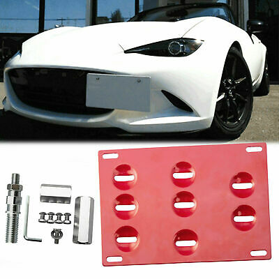 Tow Hook License Plate Mount Bracket Front Bumper Fit For Mazda 3 6 CX-5 MX-5