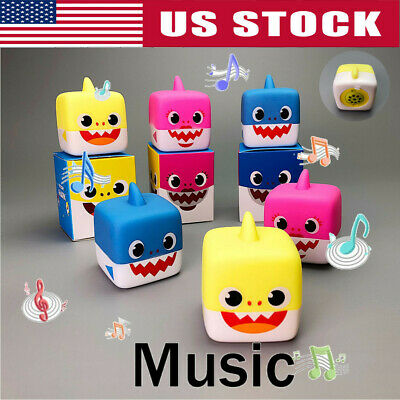 2019 Soft Cartoon Shark Toys with Music Singing English Song Doll Toy Gifts