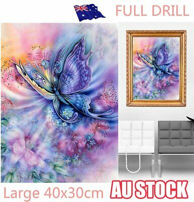 Full Drill Dream Butterfly Flowers 5D Diamond Painting Cross Stitch Craft S4