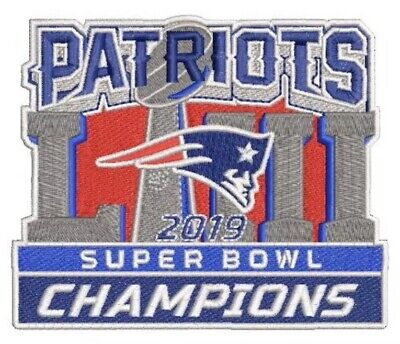 PATRIOTS SUPER BOWL 53 CHAMPIONS 2019 Embroidered PATCH LIII Brady Jersey