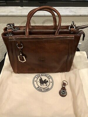 60f5cadeb2 Los Robles - Polo Time Argentinian Leather Handbag With Key Fob and Dust Bag