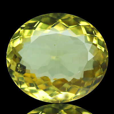 8.52 Ct Ct Ultra Rarest! Top-Luster 100%natural Canary Yellow Apatite Brazil.