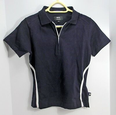 EXC! Genuine BMW Lifestyle Women's SPORT SHIRT S Midnight Blue 1/3 Zip Polo Golf