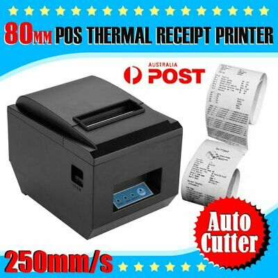 80mm USB POS Thermal Dot Receipt Bill Printer High Speed Auto Cutter 250mm/s B