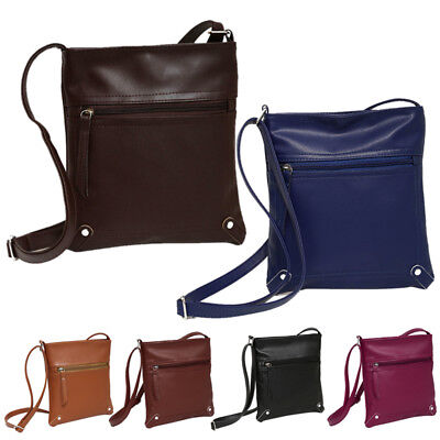 AU Messenger CrossBody Shoulder Handbag Tote Mini Leather Satchel Bag Purse BW