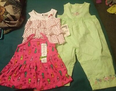 Girls spring summer clothes lot 11PC size 12M 18M