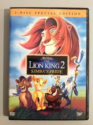 THE LION KING 2 SIMBA'S PRIDE ( 2 DVD Disc set ). A MUST OWN.