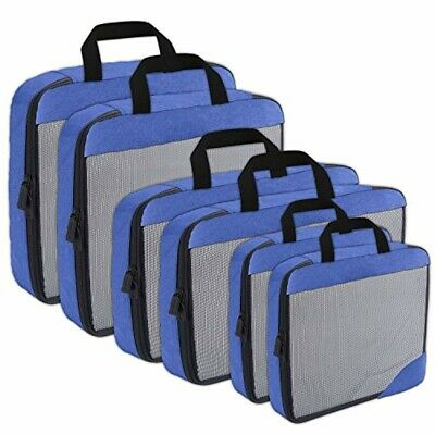 Compression Packing Cubes Travel Organizer (6) Set, Expandable Bag for Luggage