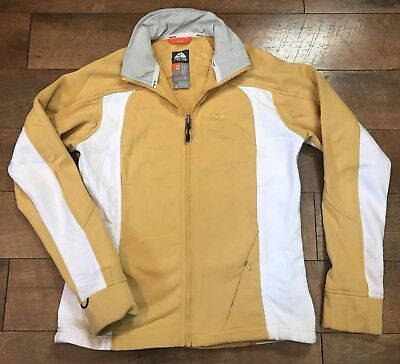 d51fc6d15c04 Nike ACG Womans Therma Fit Thermal Fleece Jacket Full Zip Yellow White Small