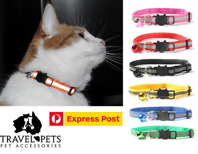 Reflective Adjustable Cat Collar Pet Kitten Fun Bright Safe Quick Release New