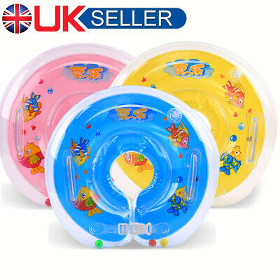 Baby Swimming Neck Float Inflatables Ring Adjustable Safety Aids For 1-18 Months