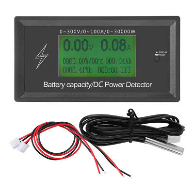 300V/100A LCD Digital DC Voltmeter Ammeter Battery Capacity Power Tester New ly