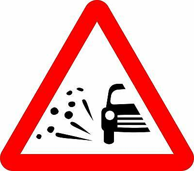 Loose chippings Road safety sign