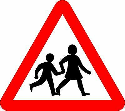 Children Crossing Road safety sign