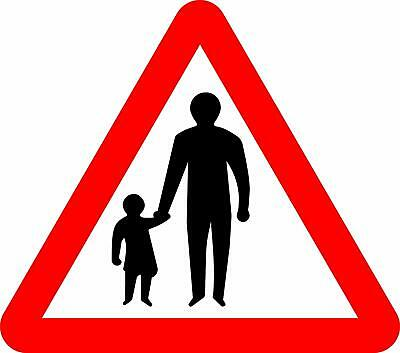 Pedestrians Ahead Road safety sign