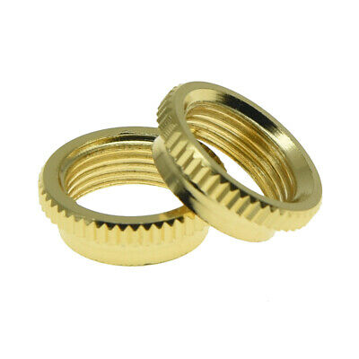 "2* 15/32"" Fine Knurl Deep Nut Toggle Switch Nut for Gibson/Switchcraft Gold"
