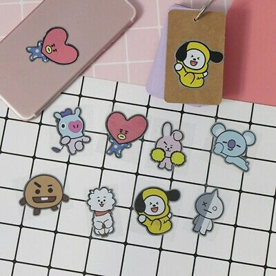 KPOP BTS Phone Stickers Paper Cute Bubble Stickers Album Luggage Stickers