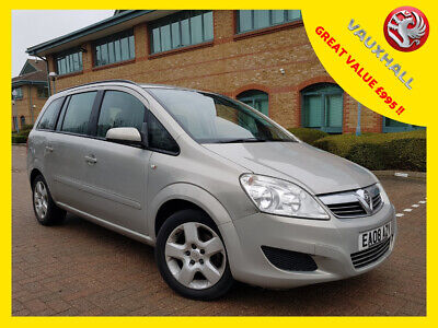 2008 08 VAUXHALL ZAFIRA 1.8i 16v VAUXHALL ZAFIRA EXCLUSIVE 7 SEATER Manual Mpv