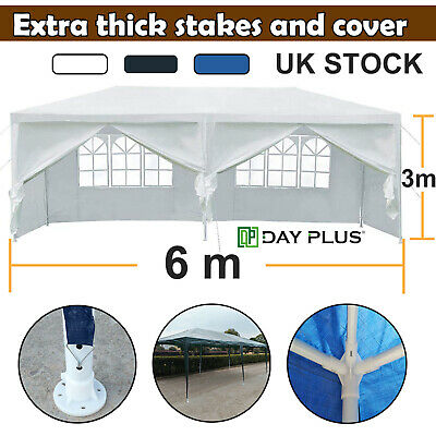 DayPlus 3x6m Waterproof Gazebo Garden Awning Outdoor Party Tent Marquee Canopy