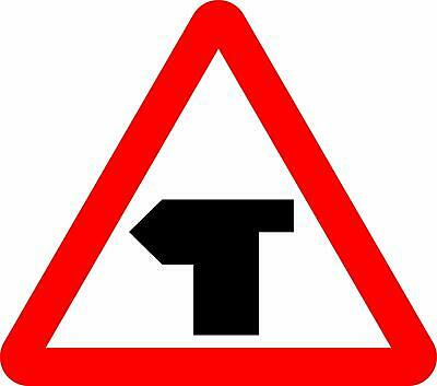 T-junction with priority over vehicles from the left. Road safety sign