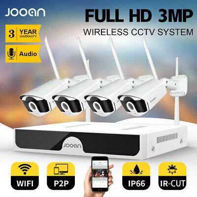 JOOAN 8CH Wireless 1080P NVR Outdoor indoor WIFI Camera CCTV Security System Kit