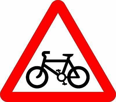 Cycle route ahead Road safety sign