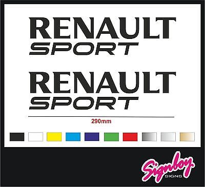 2 x Renault Sport Side Skirt Car Decals/Stickers/Graphics Fits Clio Megane RS V2