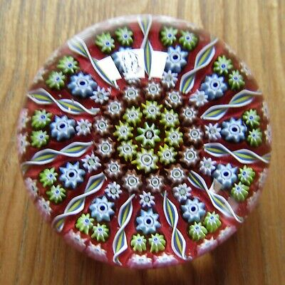 Beautiful Perthshire Millefiori Art Glass Paperweight Signed Cartwheel Dome