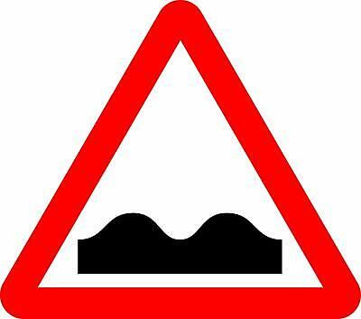 Uneven road Road safety sign