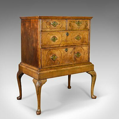 Antique Chest of Drawers on Stand, English, Walnut, Queen Anne, Circa 1700