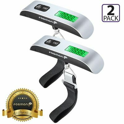 2 Portable Travel 110lb 50kg Digital Suitcase Hanging Luggage Scale Suitcase UK