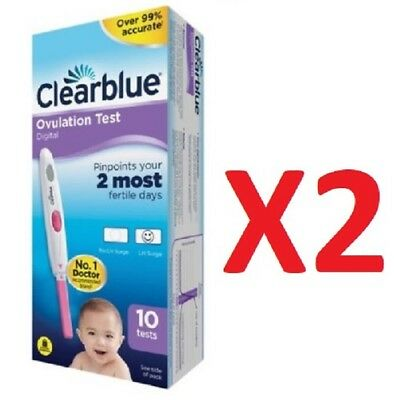 Clearblue Digital Ovulation Testing Kits 20 Tests Cheapest On Ebay