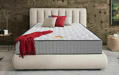 Luxury Grey Quilted Memory Foam Mattress - 3ft Single,4ft, 4ft6 Double, 5ft King