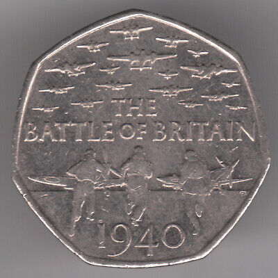 United Kingdom 50p Pence 2015 Copper-nickel Coin - Battle of Britain 1940