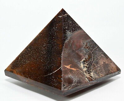"""2.7"""" 270g Red Yellow Tiger's Eye Pyramid Polished Crystal Stone Mineral - Africa"""