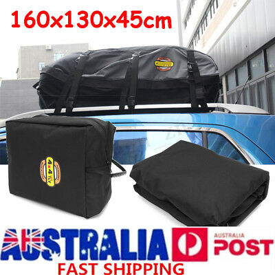 160cm Car Roof Bag Top Rack Travel Cargo Carrier Luggage Storage Bag Rooftop