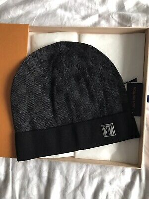 5f25be446b0 LOUIS VUITTON DAMIER knit Hat Bonnet. Petit Graphite Knit Cap LV ...