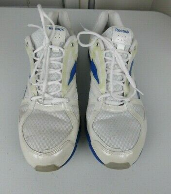 Reebok Vibe Tech Men s Running Shoes Sneakers Sport Size 14 White  Blue  023501 b445cb8df