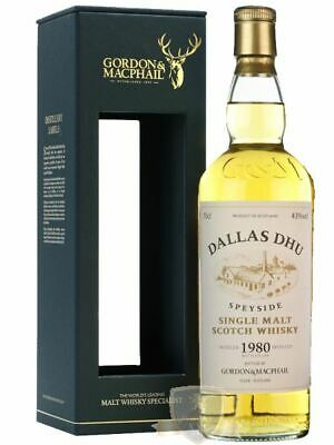 Dallas Dhu 1980 Single Malt Whisky Gordon & MacPhail 0,7 Liter