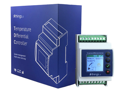Wi-Fi Solar Water Heater Controller, Online Temperature Differential Controller