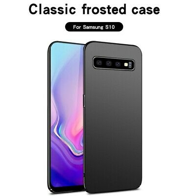 For Samsung Galaxy S10 Black Ultra Thin Matte Plastic Cover Shockproof Skin Case